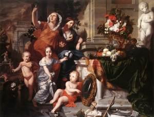 """Gérard de Lairesse-""""Allegory of the Five Senses"""" 1668"""